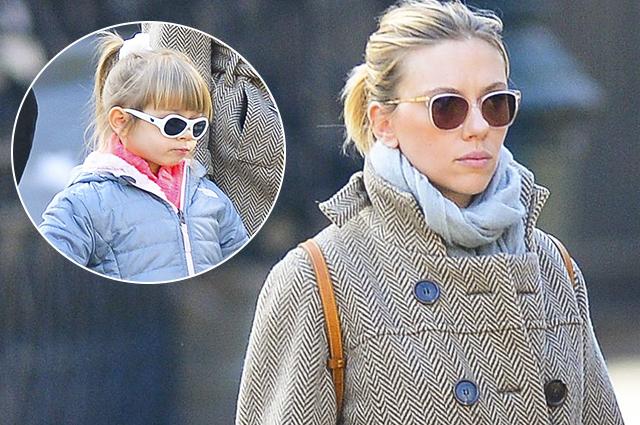 Редкий выход: Скарлетт Йоханссон на прогулке с подросшей дочерью