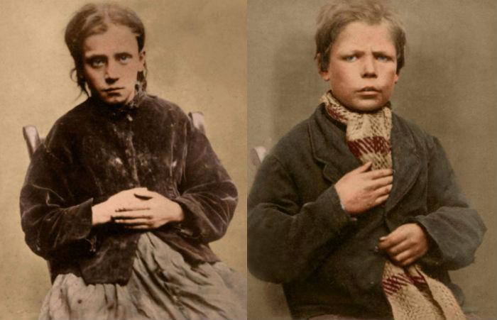 Портреты детей XIX века, приговоренных к каторжным работам и тюрьме за мелкие кражи