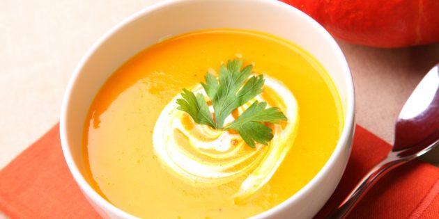Рецепты крем-супов: Тыквенный крем-суп
