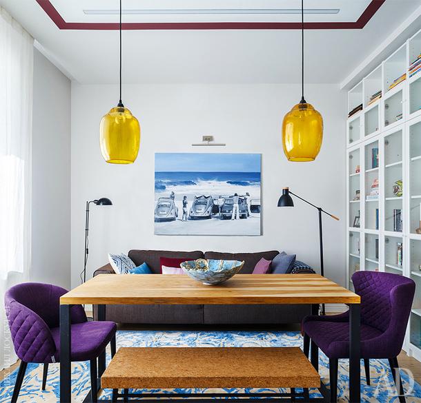Квартира для любителей живописи, 70 м²