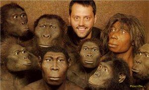 Наши сограждане уверенным большинством голосов отказываются происходить от обезьяны.