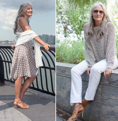 Красивая женщина зрелого возраста, модель Синди Джозеф