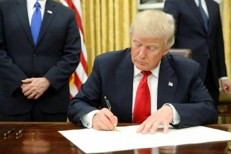 Трамп подписал декларацию о …