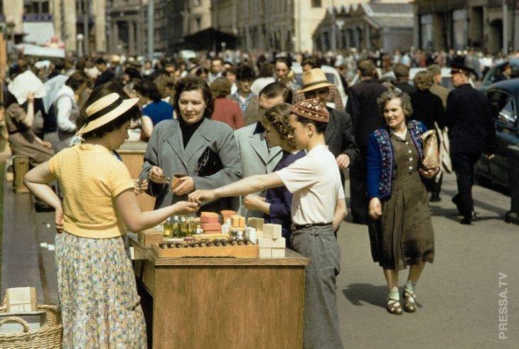 Уличная торговля в Москве в 50-е годы