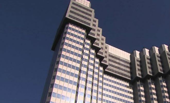 Снос огромного небоскреба без шума и пыли Видео,здание,небоскреб,Пространство,снос,Технология