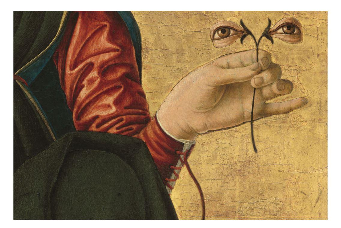 Дополнительный набор глаз на картине Возрождения