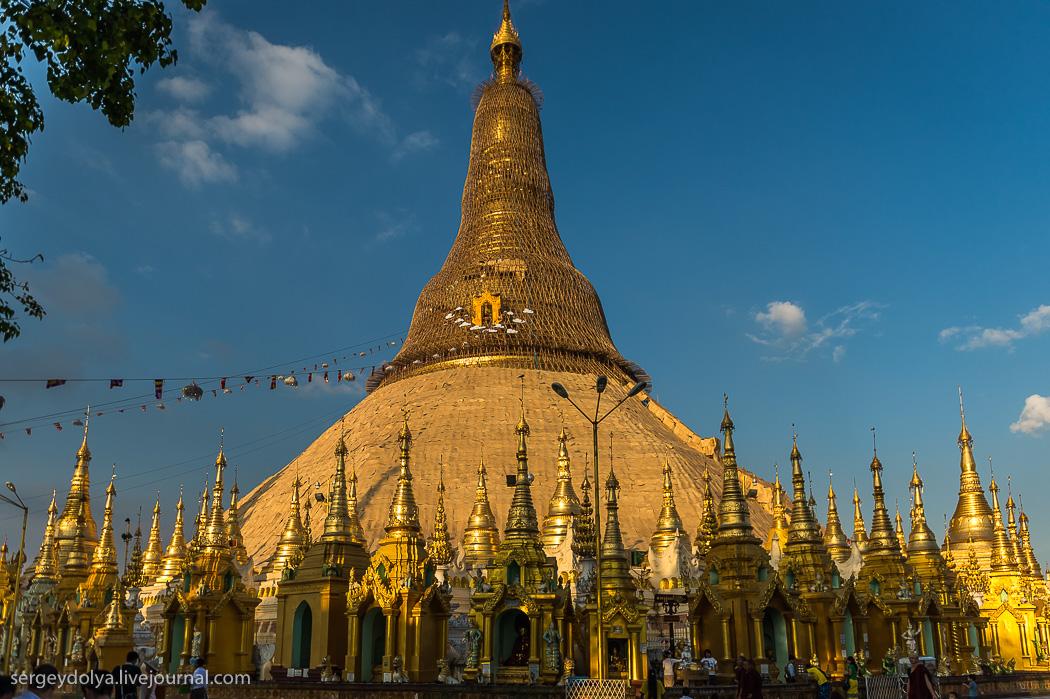 Пагода Шведагон — самое дорогое сооружение  в мире строили 1500 лет 32 короля