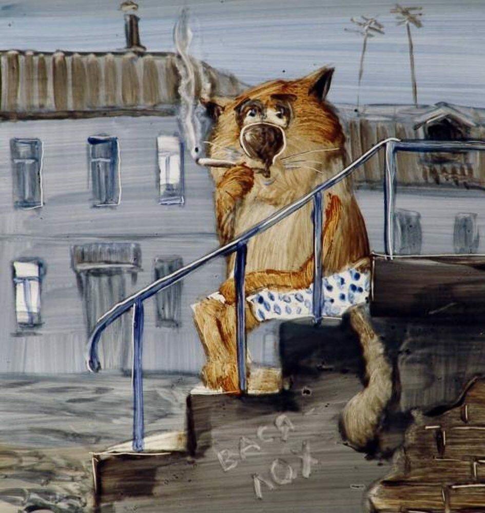 Пагубные привычки котов - дело святое история,прикол,юмор