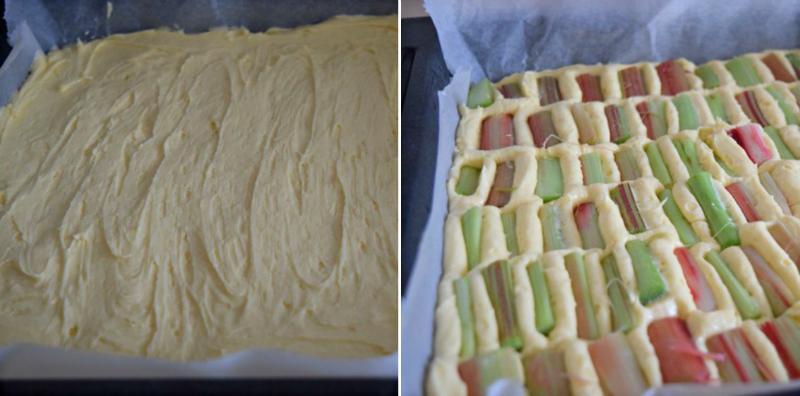 простой пирог с ревенем