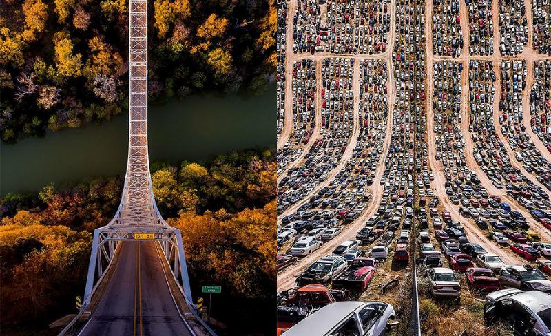 Турецкий фотограф «сгибает» города