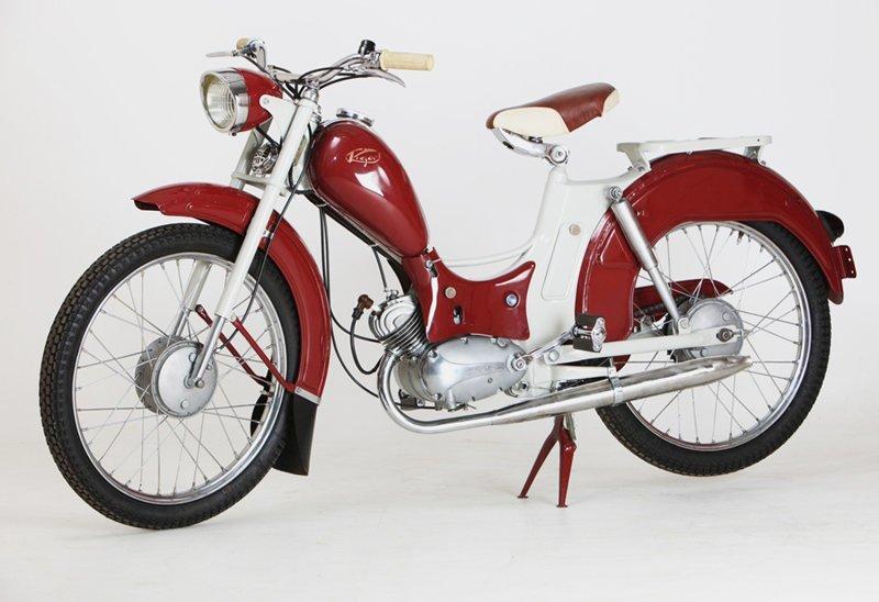Велосипед «Рига-1» с мотором  мопеды, техника, транспорт