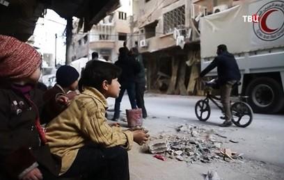Боевики хотят покинуть Восточную Гуту вместе с семьями