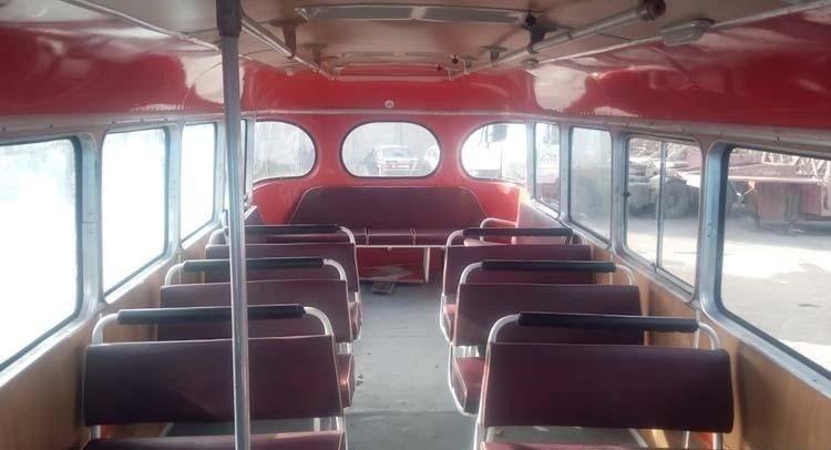 Полностью новый салон. авто, автобус, восстановление, олдтаймер, паз, реставрация, ретро авто