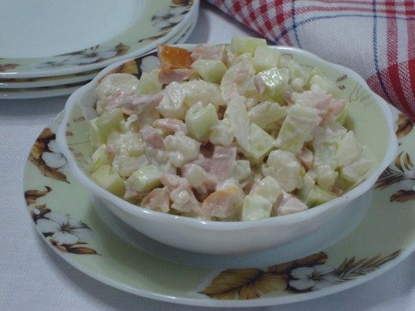 Оригинальный салат из цветно…