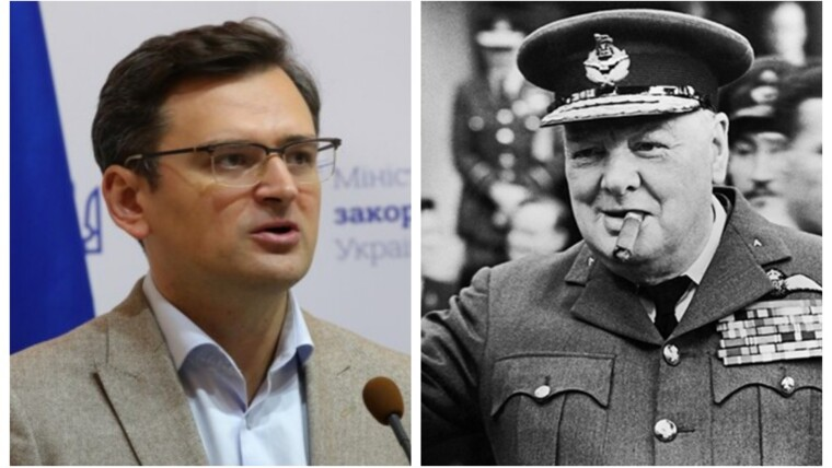 Кулеба захотел докурить сигару Черчилля «за победу над Россией» Политика