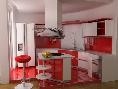 creative-kitchen-ideas-with-red-colorful-kitchen-cabinets-in-contemporary-style-600x450
