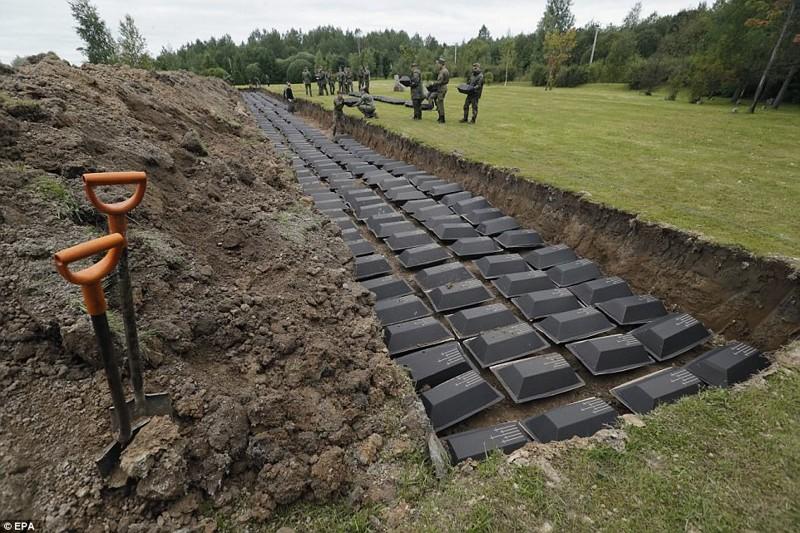 Останки 1400 немецких солдат перезахоронили под Петербургом