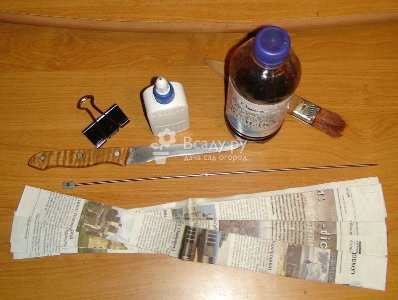 Материалы для создания плетеной корзинки