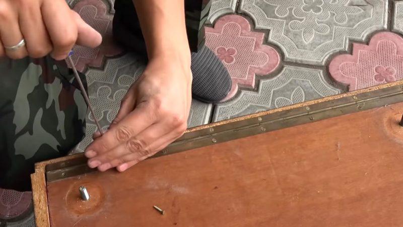 Прекрасная идея переделки старой тумбы интерьер,переделки,рукоделие,своими руками,сделай сам
