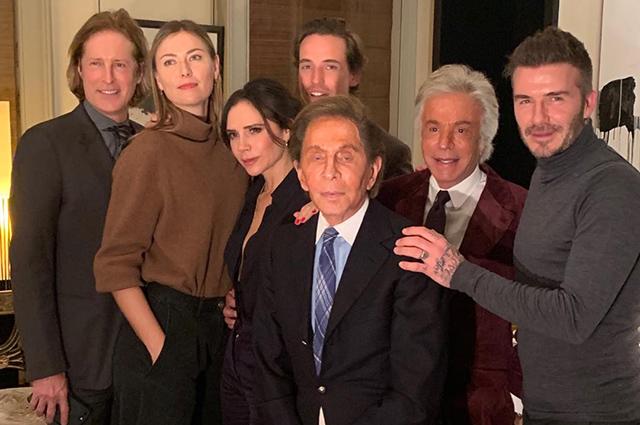 Мария Шарапова с бойфрендом, семья Бекхэм и другие на ужине в Лондоне