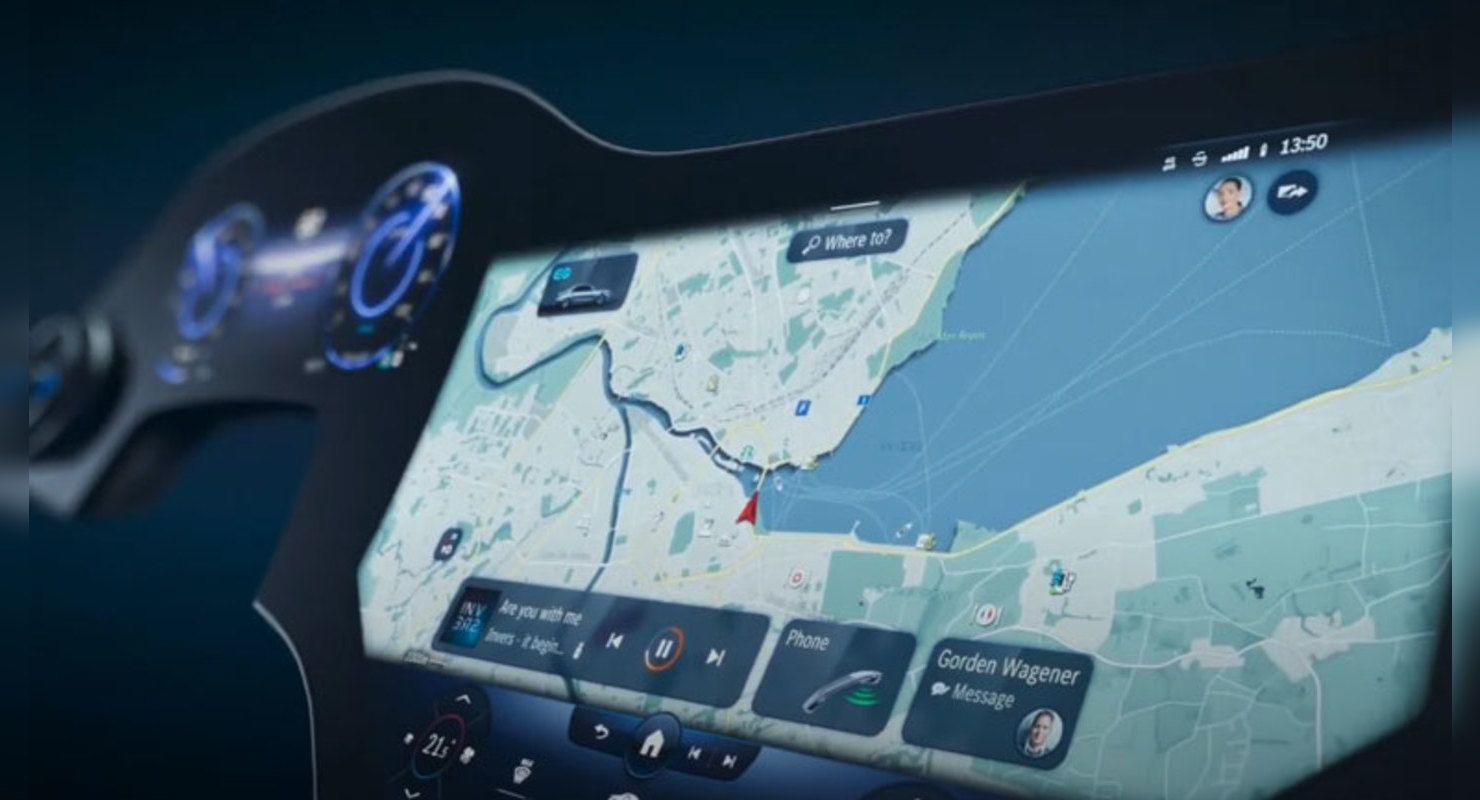 Mercedes-Benz презентовал новую мультимедийную систему MBUX с гигантским экраном 56 дюймов Технологии