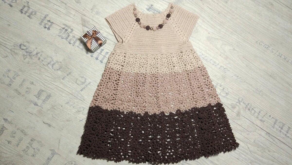 Вяжем ажурное платье для маленьких привередливых модниц своими руками вязание,мастер-класс,мода,одежда