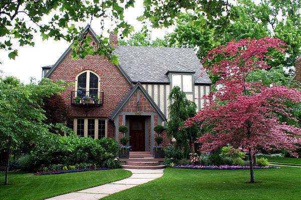 красивые одноэтажные кирпичные дома, фото 40