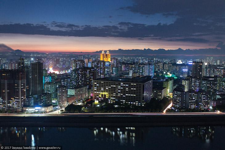 Столица Северной Кореи с высоты