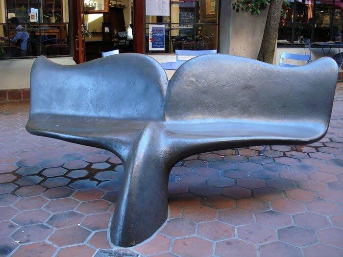 Скамья в виде хвоста кита в мире, в парке, красота, креатив, лавочка, скамейка, удобство, фантазия