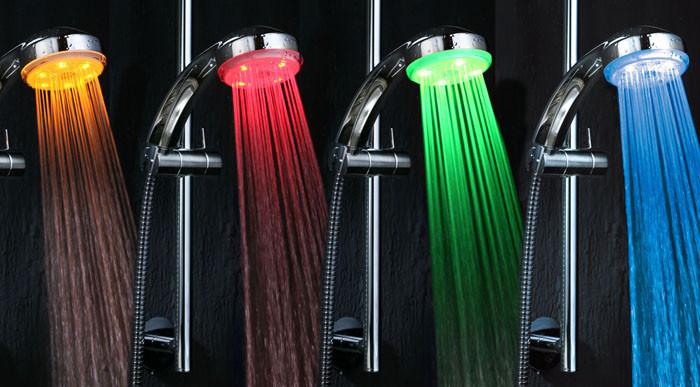 Душ с индикатором температуры воды гаджет, изобретение, полезное