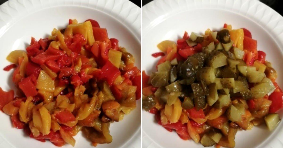 Салат с брынзой «Зимний день» салаты