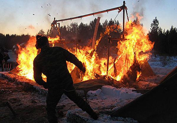 Украинские военные сгорели прямо на полигоне