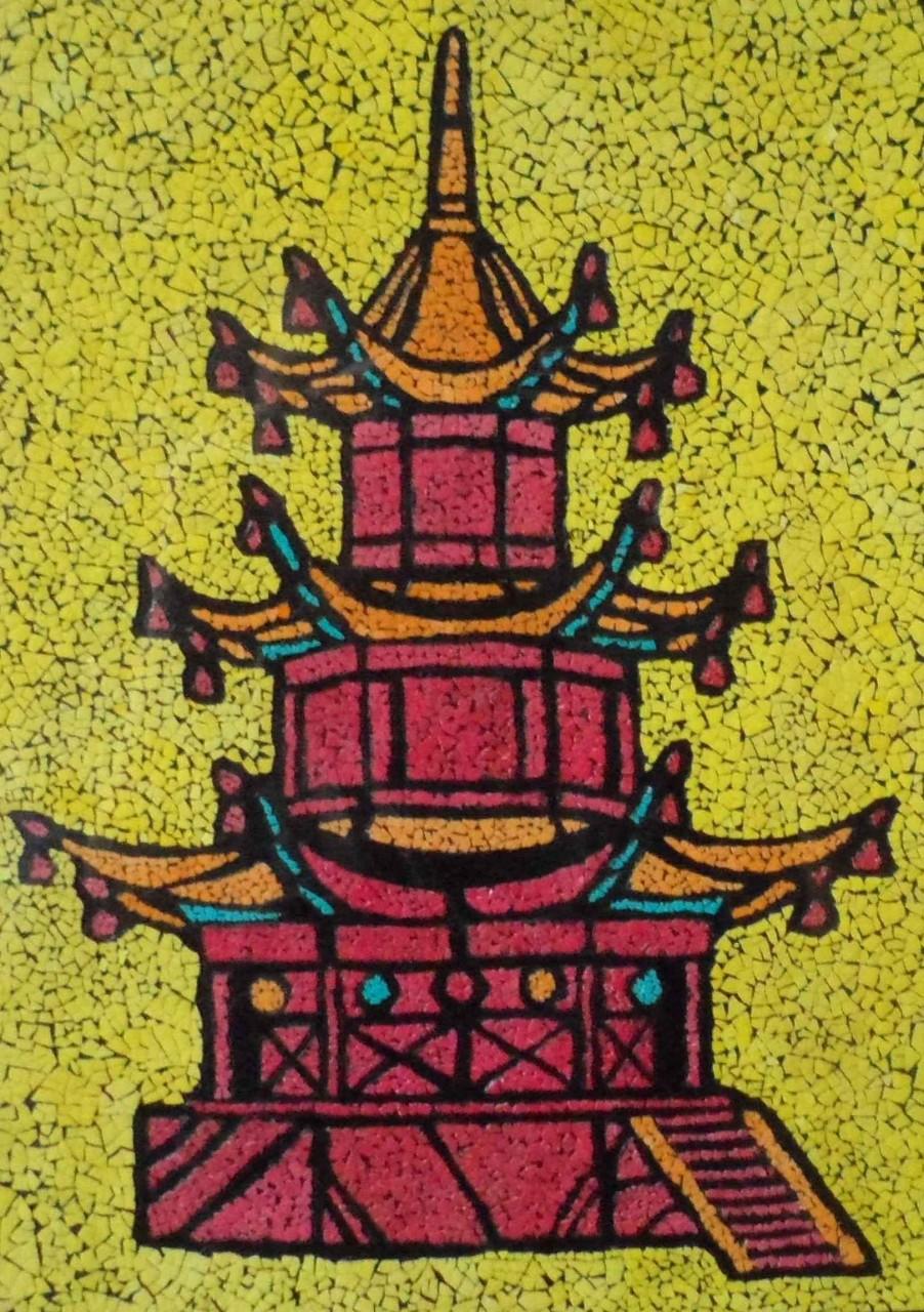 Картина из яичной скорлупы