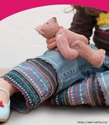 Декорирование детских джинсов. Супер-идея! МК