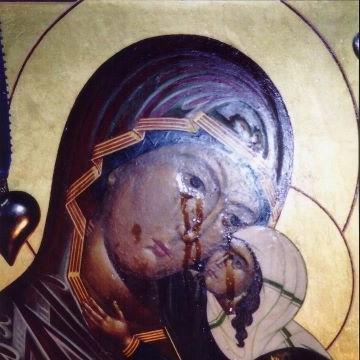 икона плачущая богородица