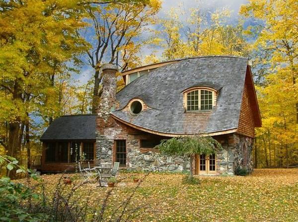 красивые крыши одноэтажных домов, фото 11