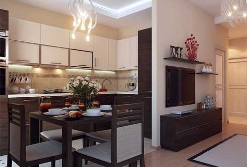 Дизайн 1-комнатной квартиры в хрущевке — смотрим подробный дизайн в фото и радуемся за хозяев!