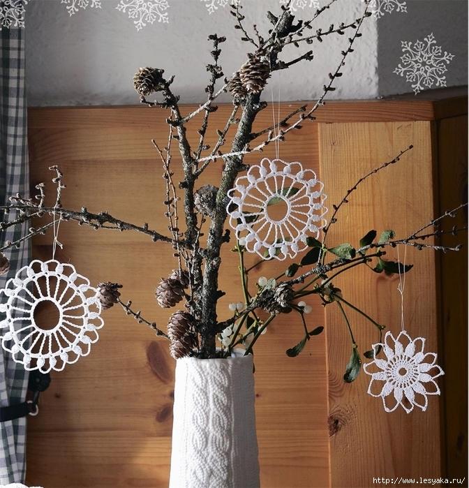 Красивая ажурная снежинка - мастер-класс по вязанию крючком!