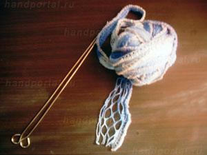Как связать шарф из ленточной пряжи