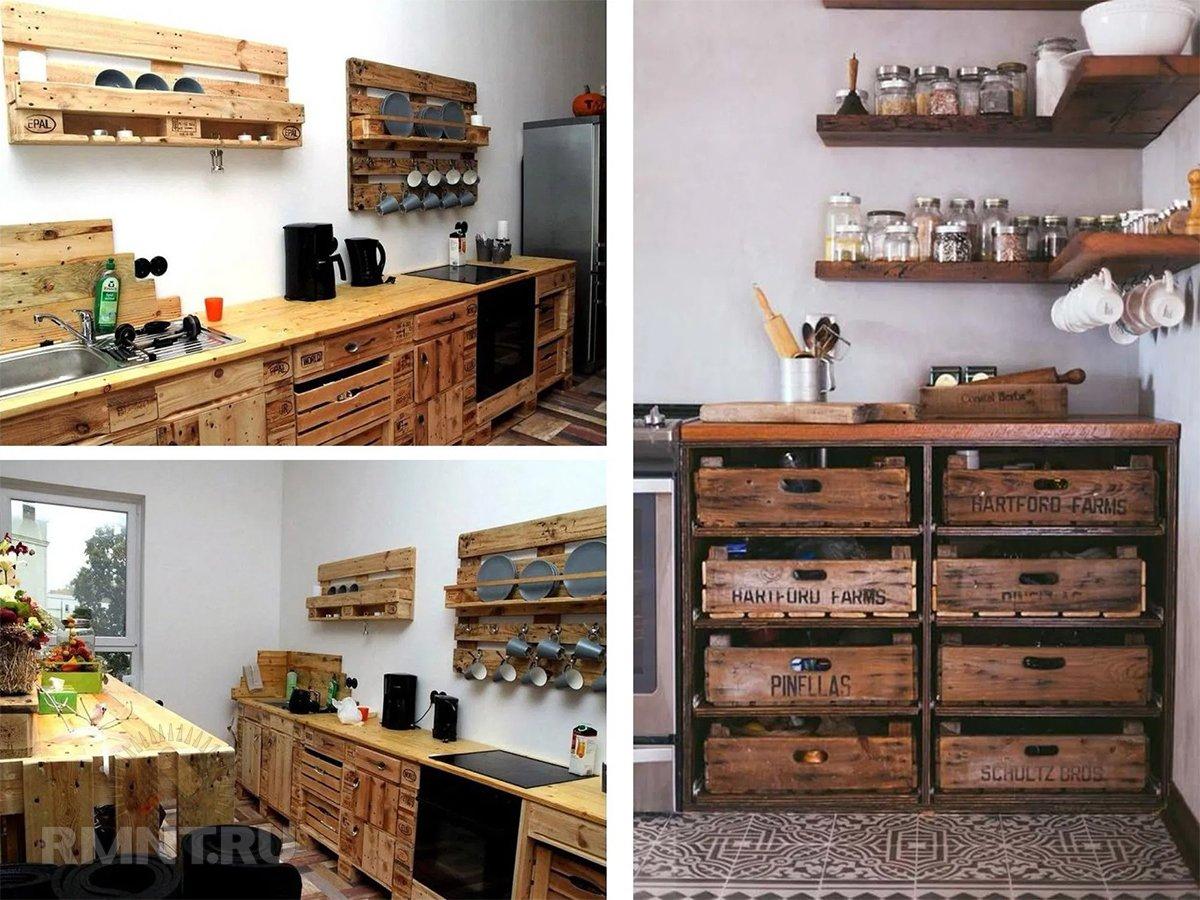 Кухни из поддонов: фотоподборка для дома и дачи,идеи и вдохновение