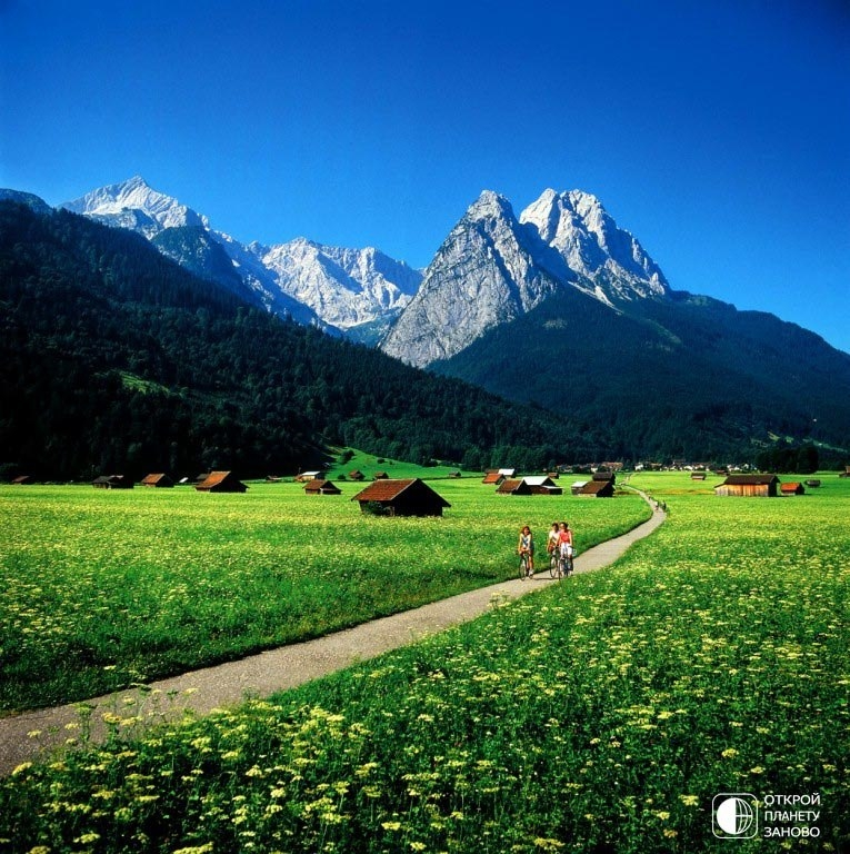 Альпийский городок Гармиш-Партенкирхен