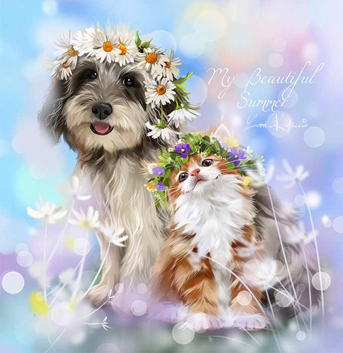 Открытки собачка с цветком, день святого валентина