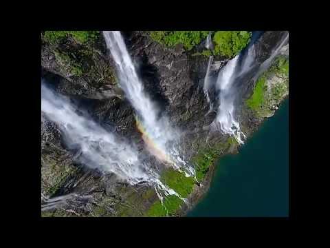 Водопад семи сестер в Норвегии