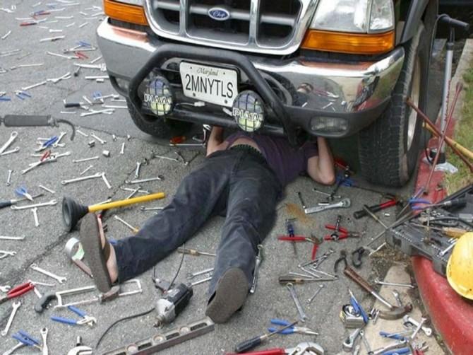 Автокамасутра и мы: кто как чинит свою машину?