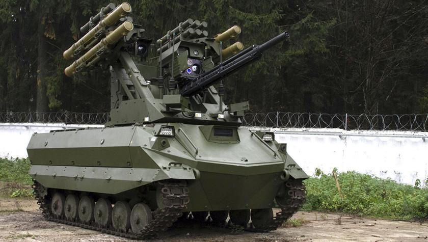 Российский боевой робот «Уран-9» заступил на службу