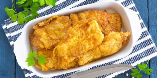 Рыба в кляре с сыром