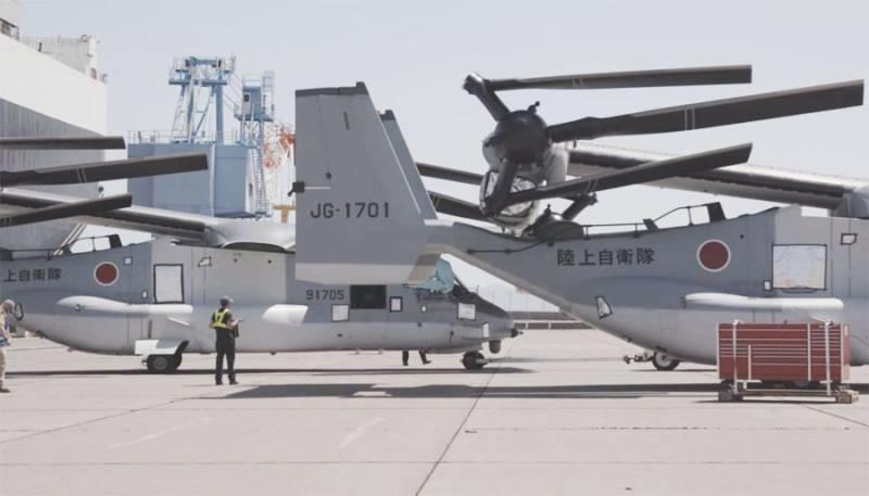 Заказанные Японией модернизированные конвертопланы V-22 Osprey прибыли в Ивакуни: названа цель покупки у США