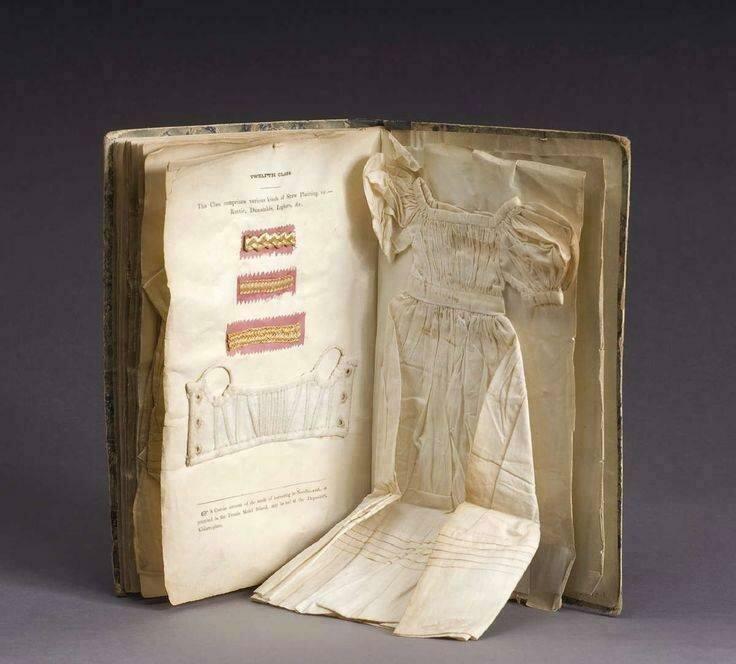 Книга по рукоделию с образцами. Дублин, Ирландия. 1833-1837 гг. история, ретро, фото