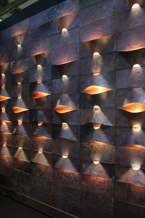 Отличное решение для подсветки стены, что создаст просто невероятную атмосферу.