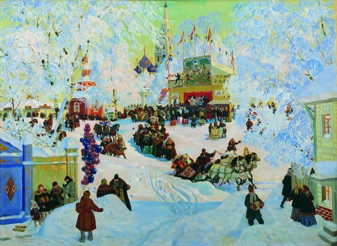 Зимний праздник в картинах художников